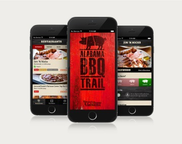 Alabama BBQ Trail app for Apple and Android
