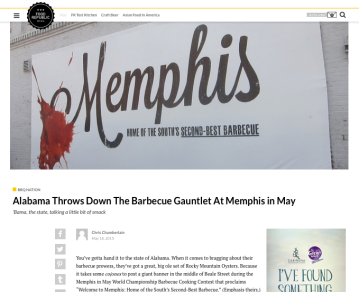 Memphis in May BBQ festival press coverage